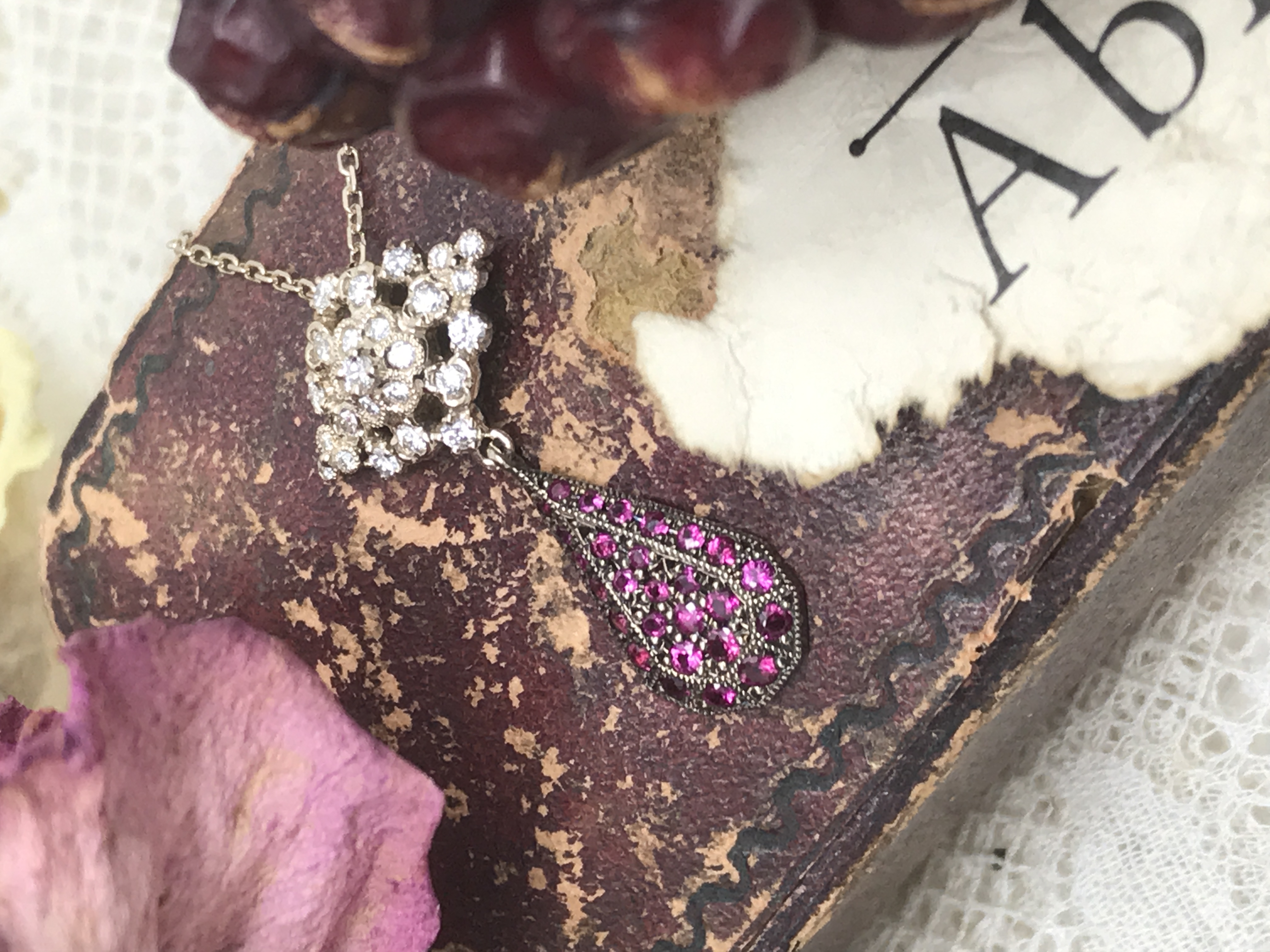 K18ch Ruby Diamond Necklace 216,000 円